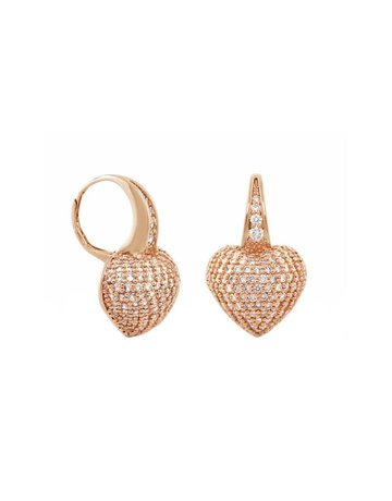 LAUREN G ADAMS ROSE GOLD SHIMMER AND GLIMMER DROP EARRINGS ROSE GOLD OS