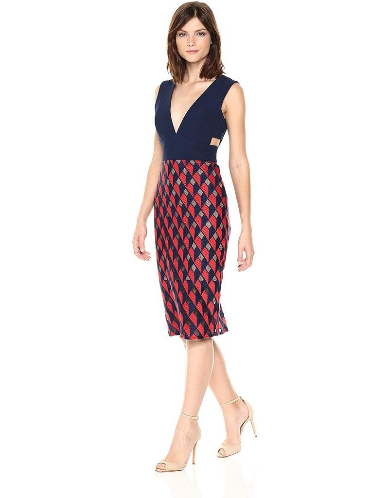 BCBG SALE SALE ROSALINA DKNAVYBTPO DRESSES