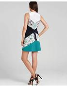 BCBG SALE SALE ALAINA LT AQUA COMBO DRESSES 6