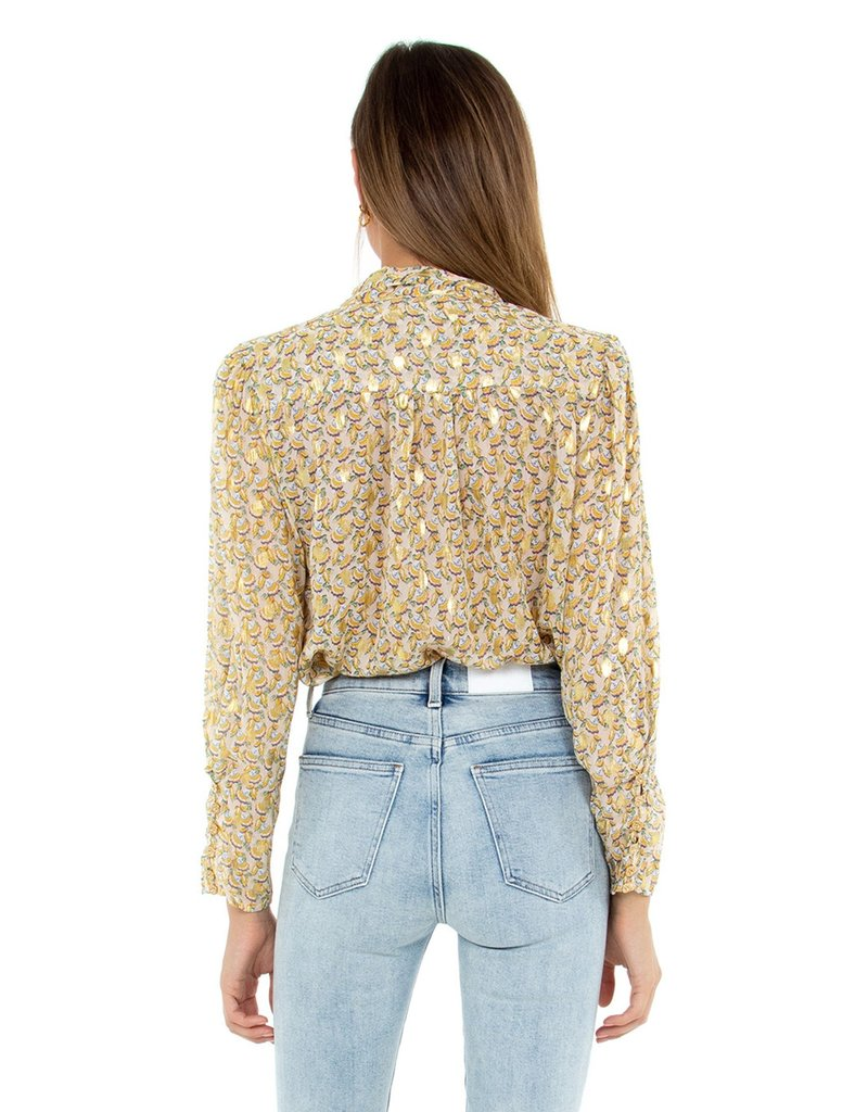 BISHOP + YOUNG AFTERGLOW TIE NECK BLOUSE TOPS