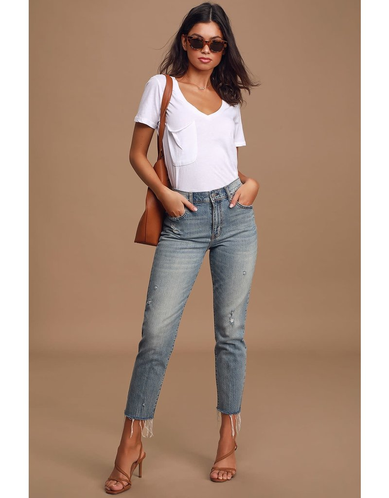 DAZE STRAIGHT UP HIGH RISE STRAIGHT JEANS