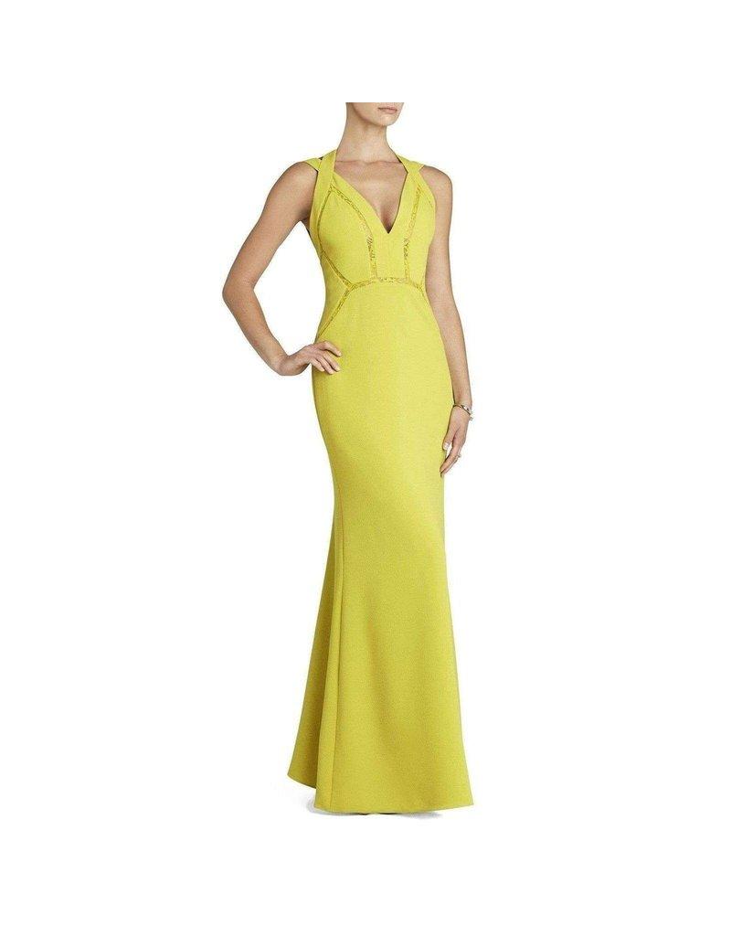 BCBG SALE SALE PENELOPE GOLDEN OLIVE DRESSES MT: 2