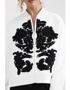 CAMEO PARADISE BOMBER SWEATERS/VESTS IVORY MT: L