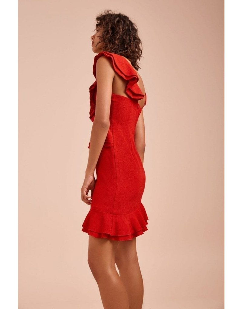 CAMEO ENTRICE SS DRESSES RED MT: M