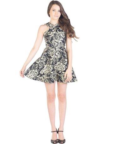 MISSBEHAVE GD1152/XL BLACK GOLD DRESSES MT: XL
