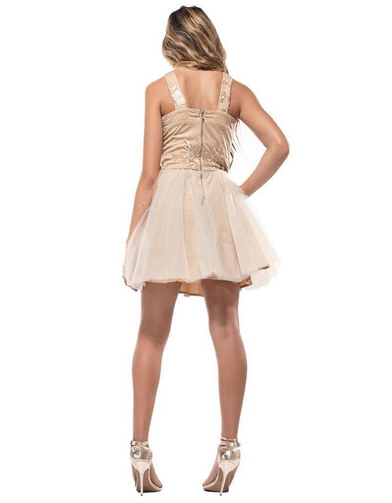 MISSBEHAVE GD2611 GOLD TULLE DRESSES