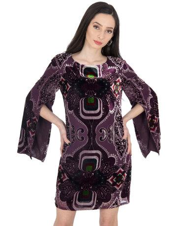 DESIGUAL CELIA DRESSES PURPLE 38
