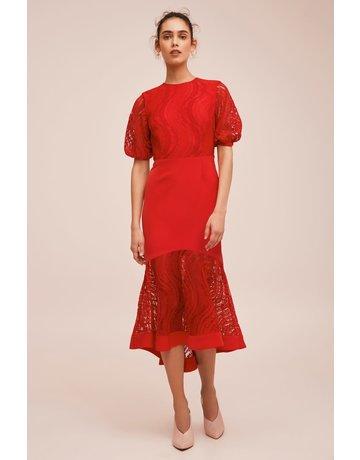 KEEPSAKE FLAWLESS LOVE MIDI DRESSES 30180345 RUBY RED S
