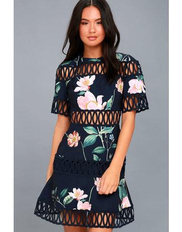 KEEPSAKE WHISPERS DRESSES 30170902-1 NAVY FLORAL S