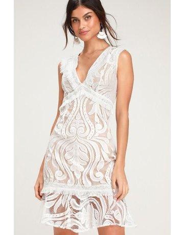 RYSE THE LABEL FRINGE MICHI DRESSES WHITE L