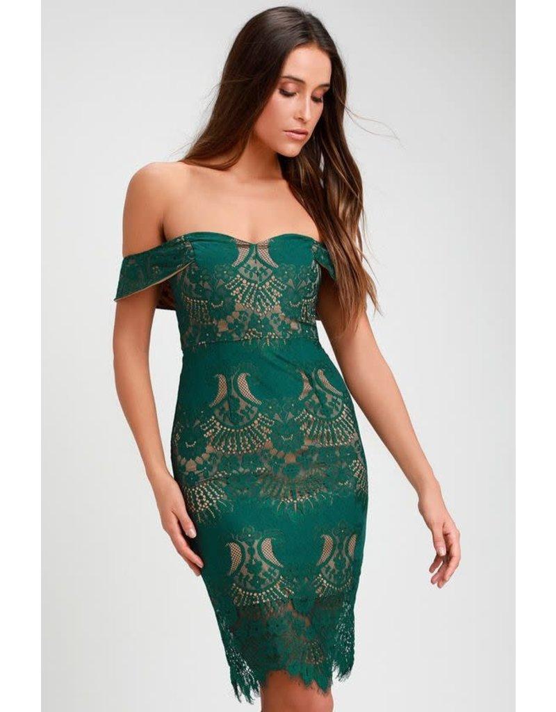 RYSE THE LABEL ALEX DRESSES EMERALD M