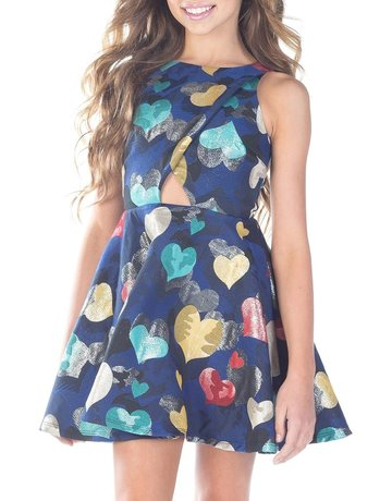 MISSBEHAVE GD0934 COLORFUL HEARTS DRESSES
