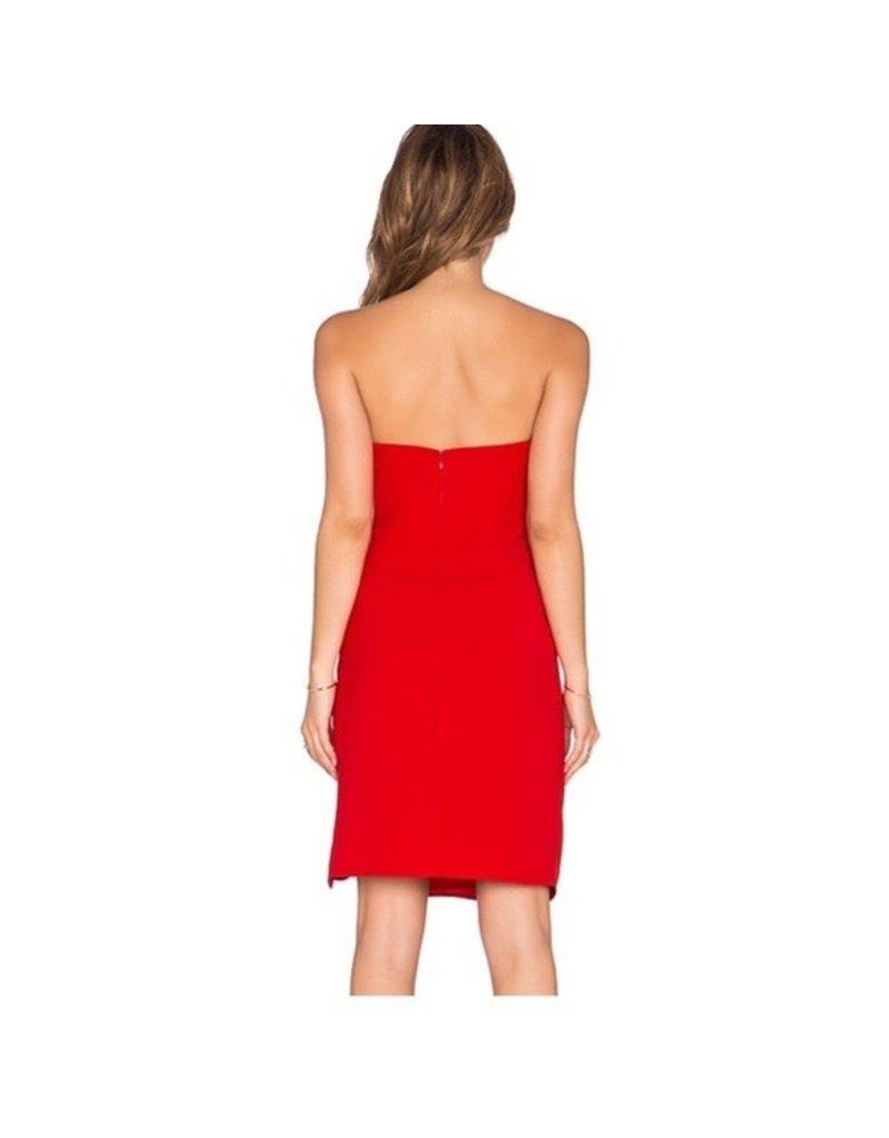 DIVERSEN SALE STRAPPLES BODYCON MINI DRESSES RED M