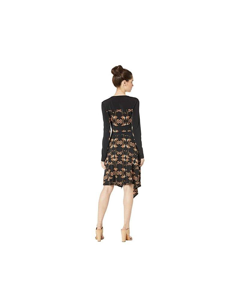 BCBGMAXAZRIA19 IRIS PRINT FAUX WRAP DRESSES CIA6170490