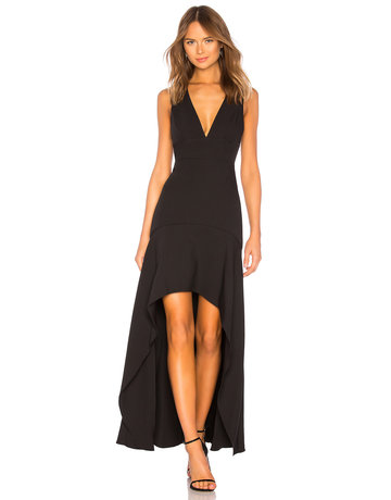 BCBGMAXAZRIA19 HIGH LOW HEM GOWN DRESSES BYM64O53 BLACK 6