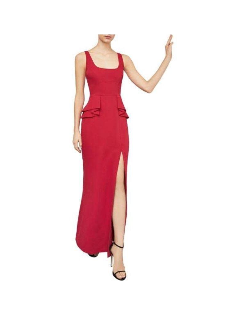 BCBGMAXAZRIA19 DOUBLE RUFFLE PEPLUM GOWN EVENING DRESS OLM6170709