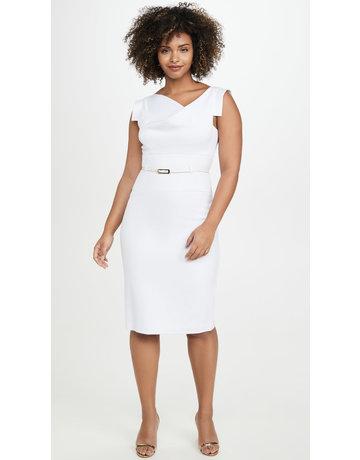 BLACK HALO JACKIE O' WHITE DRESSES