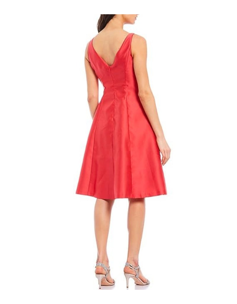 ADRIANNA PAPELL MIKADO PARTY SHORT GOWNS AP1E207348 HT TOMATO 14