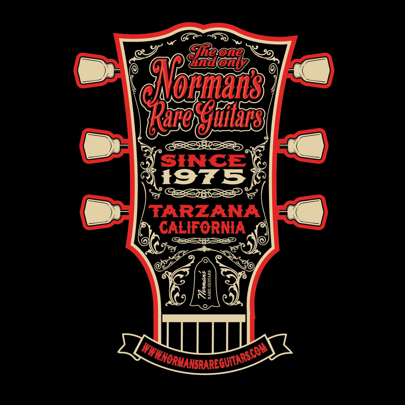 Norman's Rare Guitars Red Headstock T-Shirt