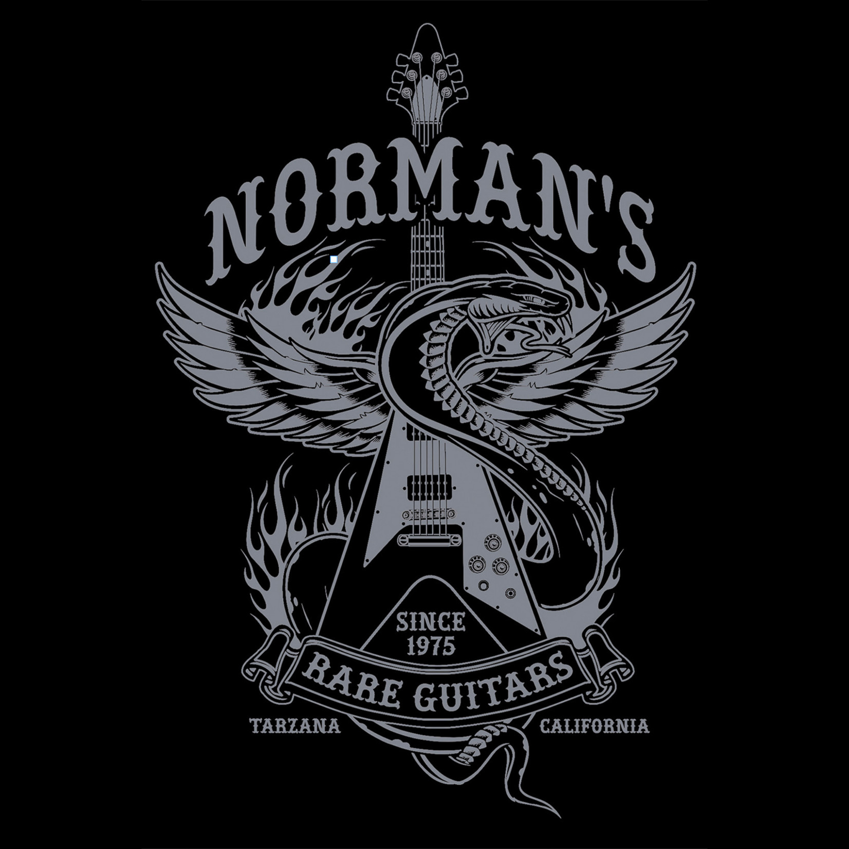 Norman's Rare Guitars Snake Flying V T-Shirt