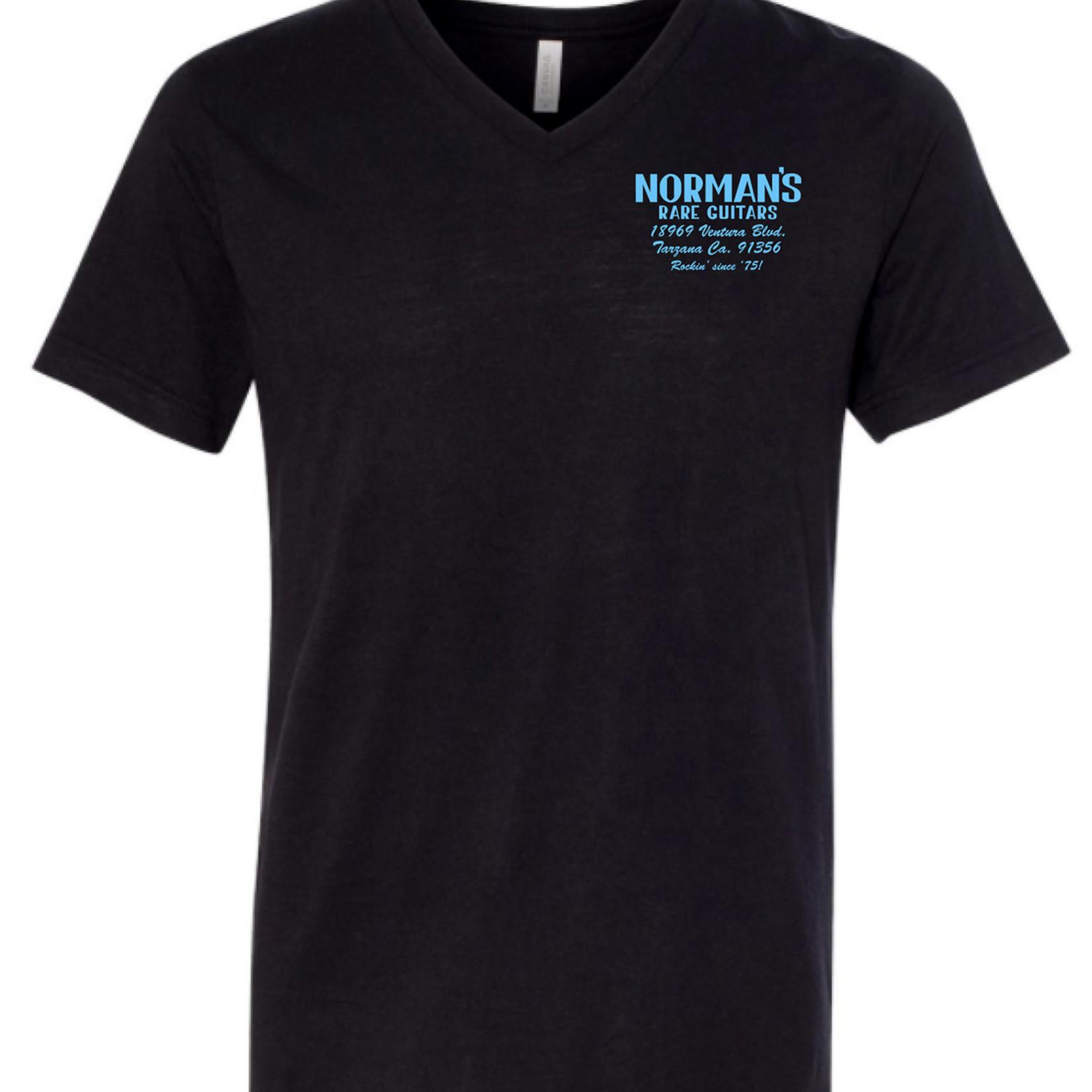 Norman's Rare Guitars Black V-Neck T-Shirt