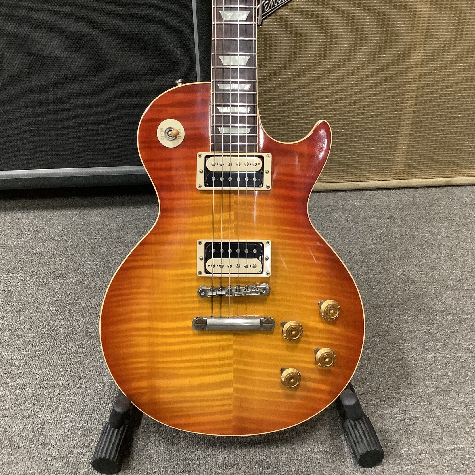 Gibson Gibson Les Paul 1959 Reissue Flame Top Zebras Pickups, Certificate, etc.
