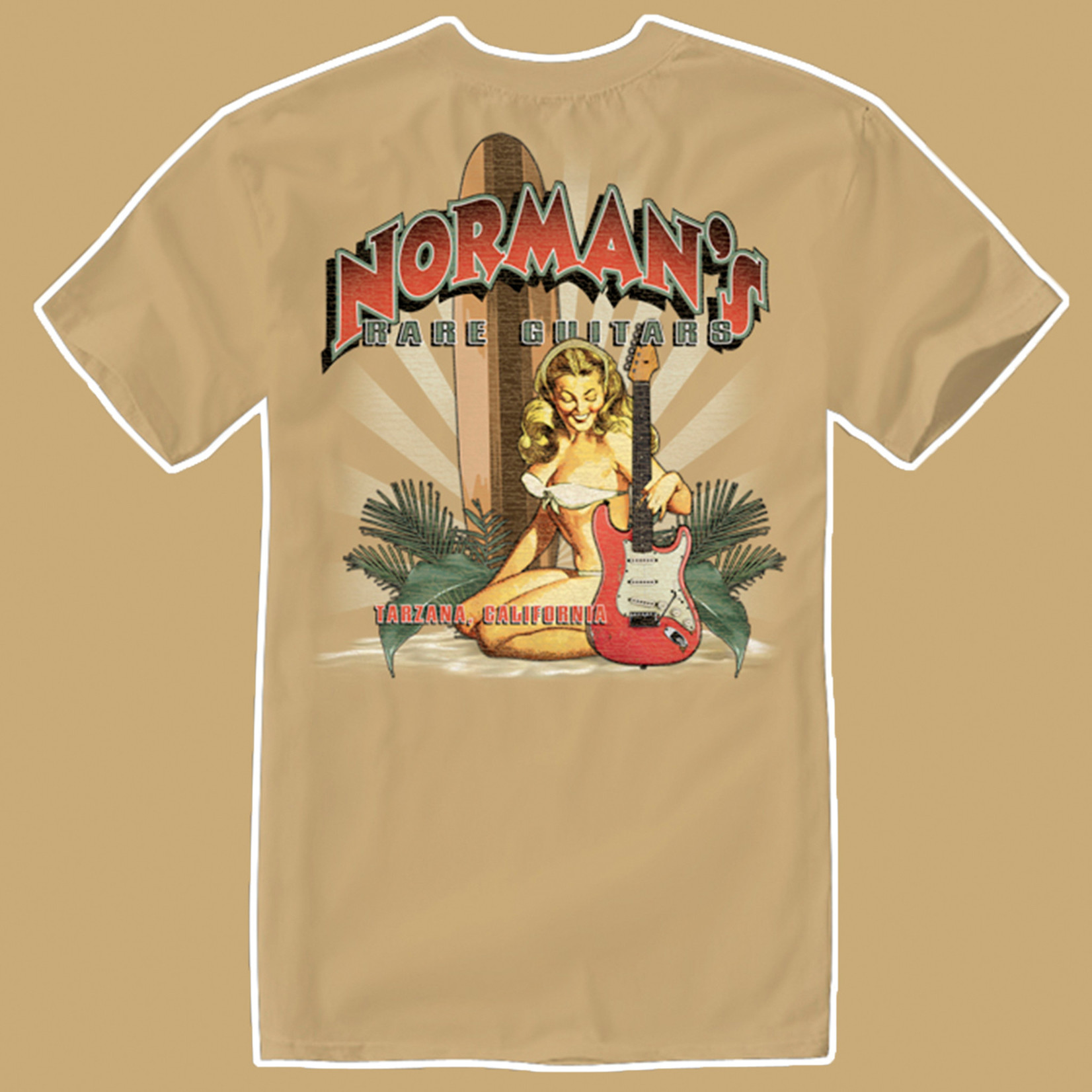 Norman's Rare Guitars Joe Bonamassa Strat Pinup T-Shirt