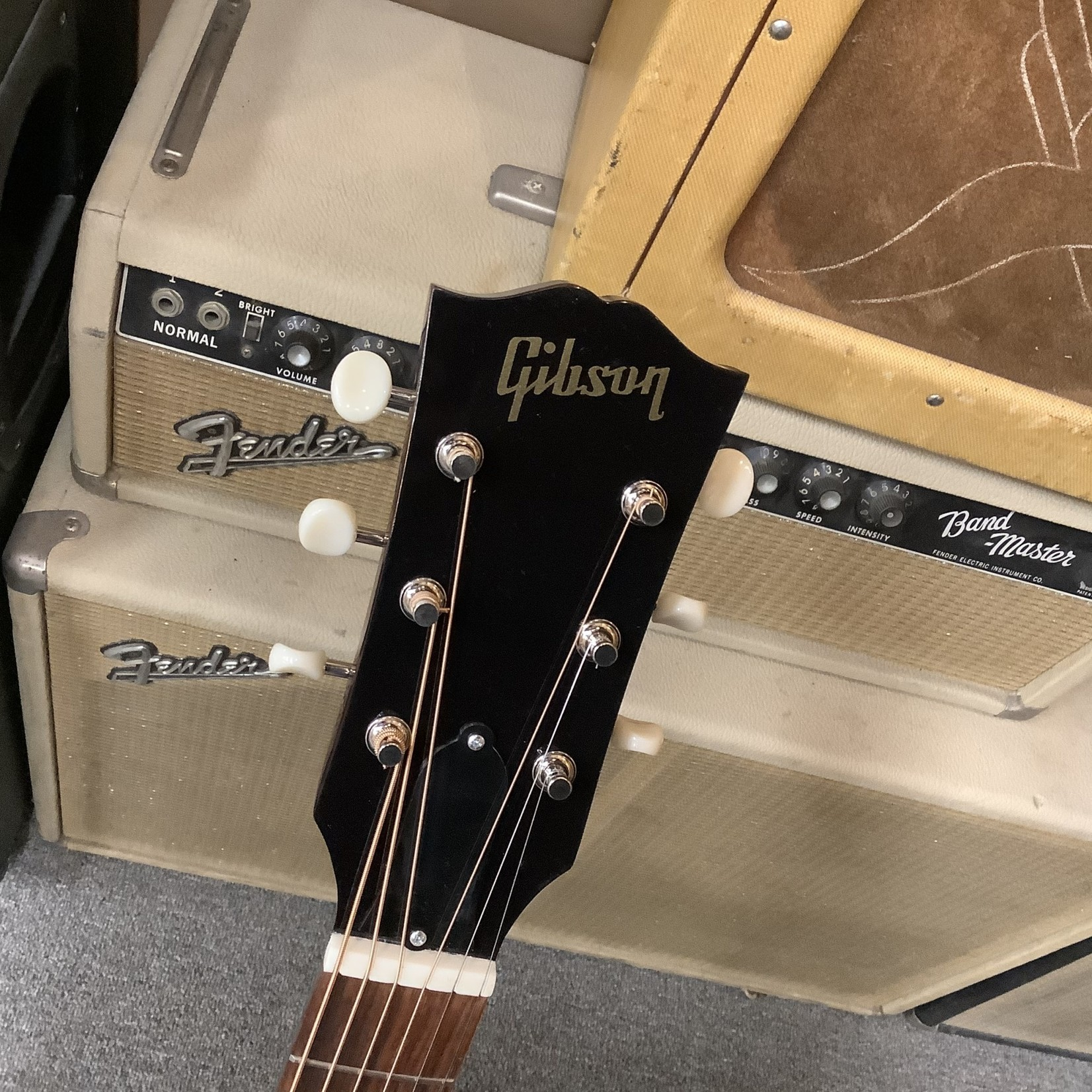 """Gibson Brand New 2020 Gibson J-45 """"1960's"""" Reissue with Adjustable Bridge Saddle, Wine Red"""