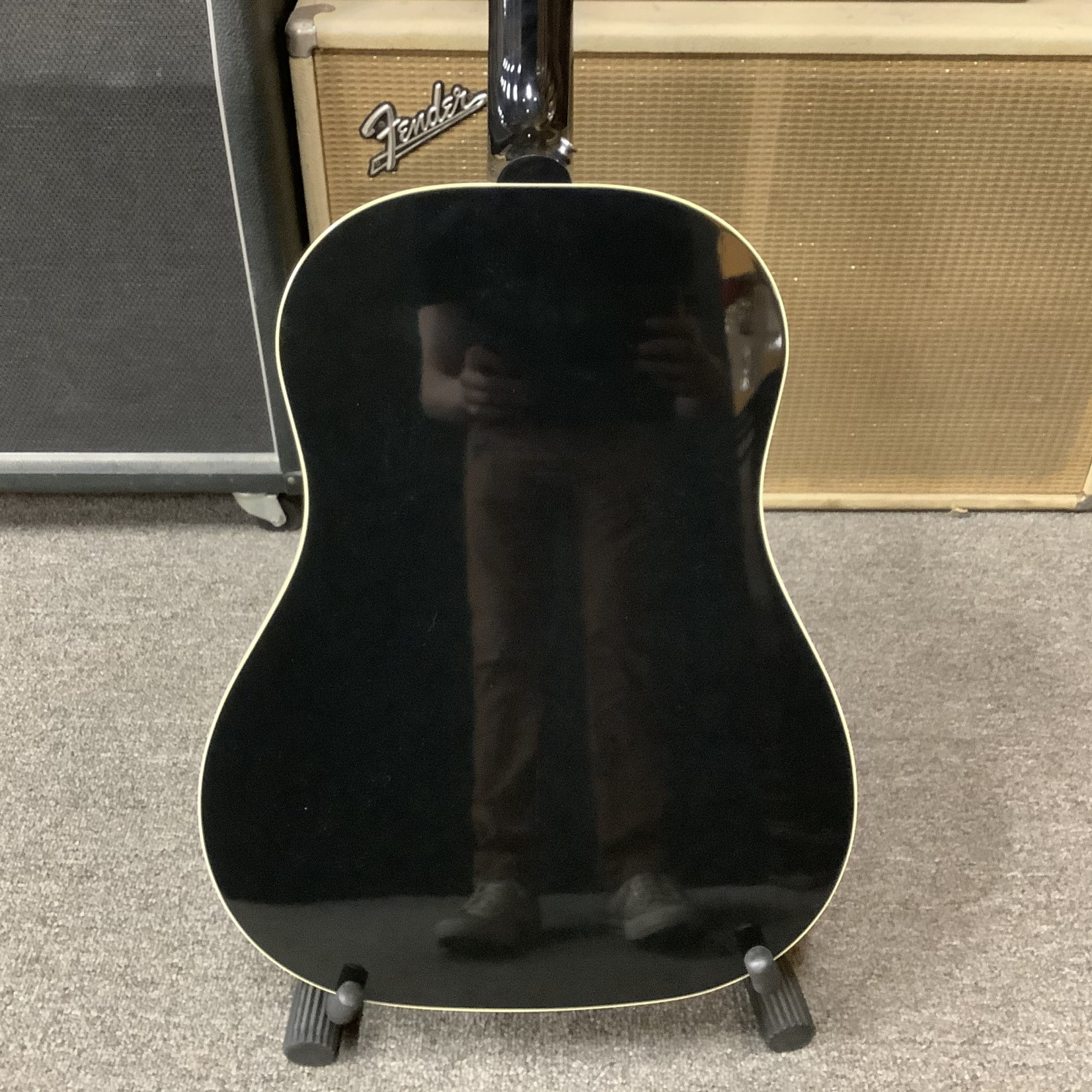 """Gibson Brand New 2020 Gibson """"1950's"""" J-45 Lefty Black with Pickup"""