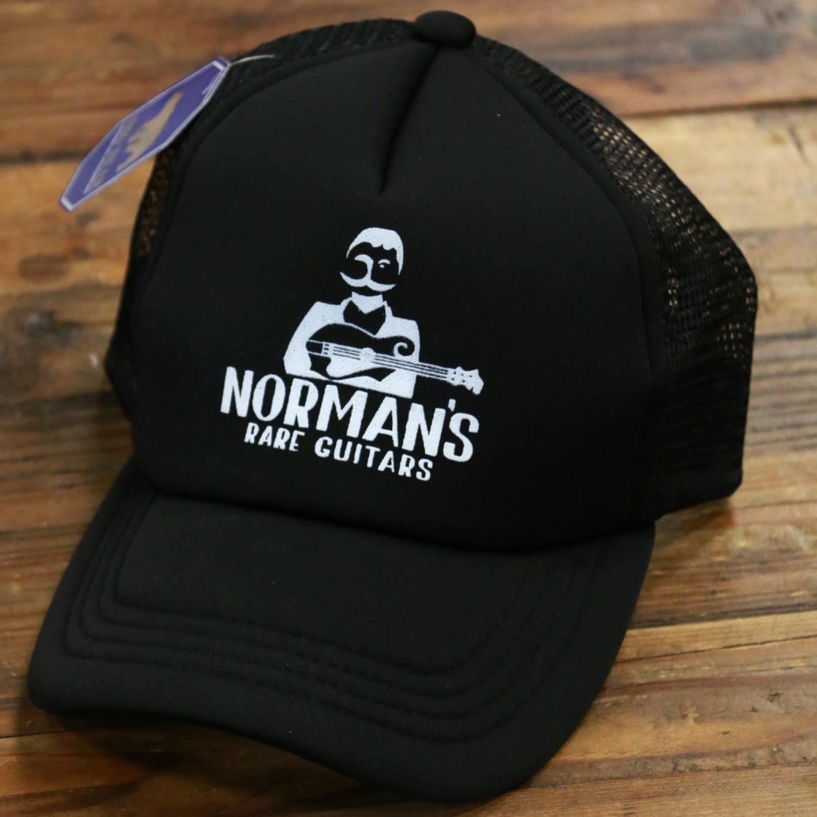 Norman's Rare Guitars NRG Black Trucker Hat