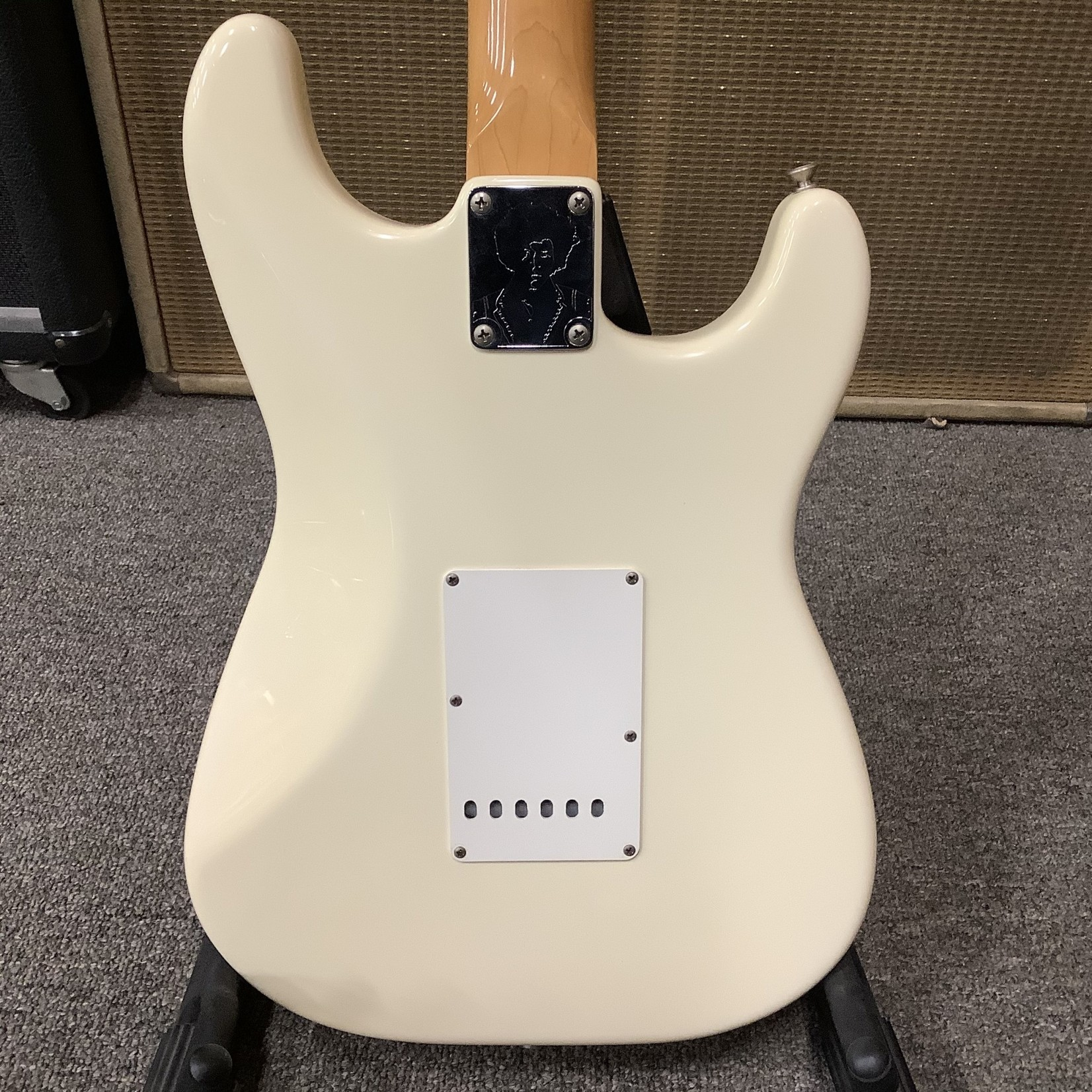 """Fender 1990's Hendrix Fender Stratocaster """"Mirror"""" White Maple Neck"""