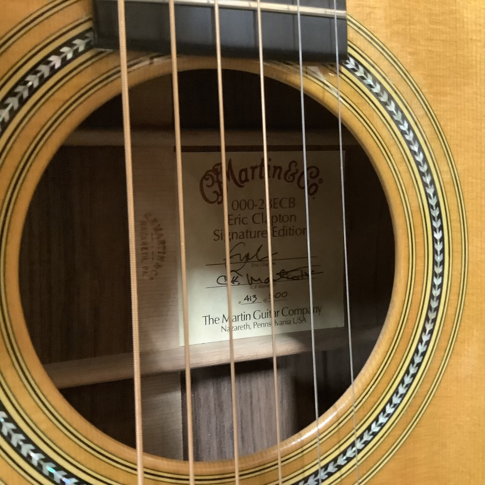 Martin 2002 Martin 000-28 ECB Brazilian Rosewood Eric Clapton Model -LTD 413/500