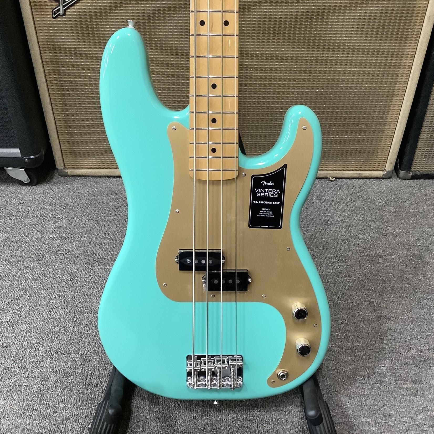 Fender Fender Vintera Precision Bass Sea Foam Green Anodized Guard, Maple Neck