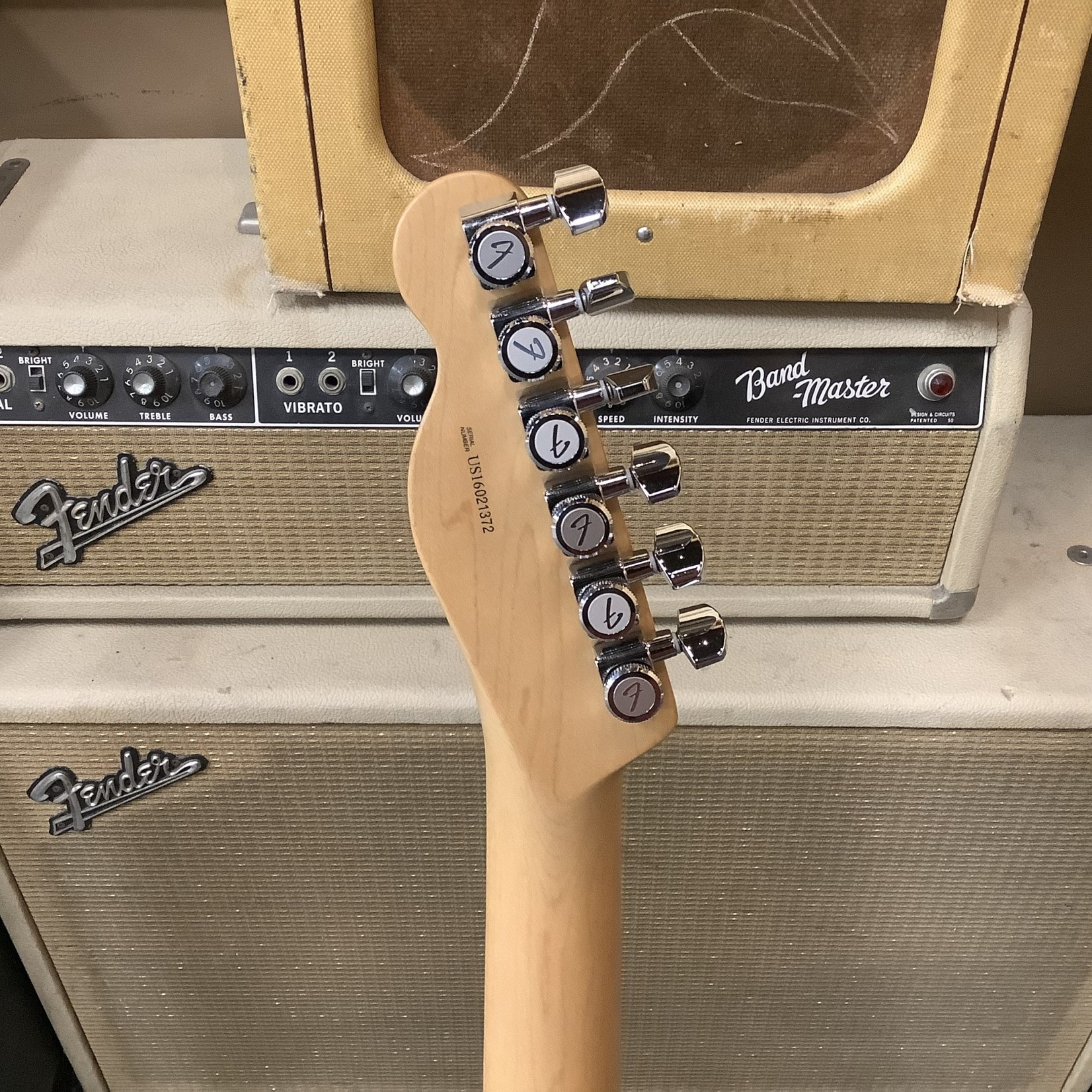 Fender 2016 Fender American Elite Telecaster Thinline Maple Neck Ice Blue Metallic