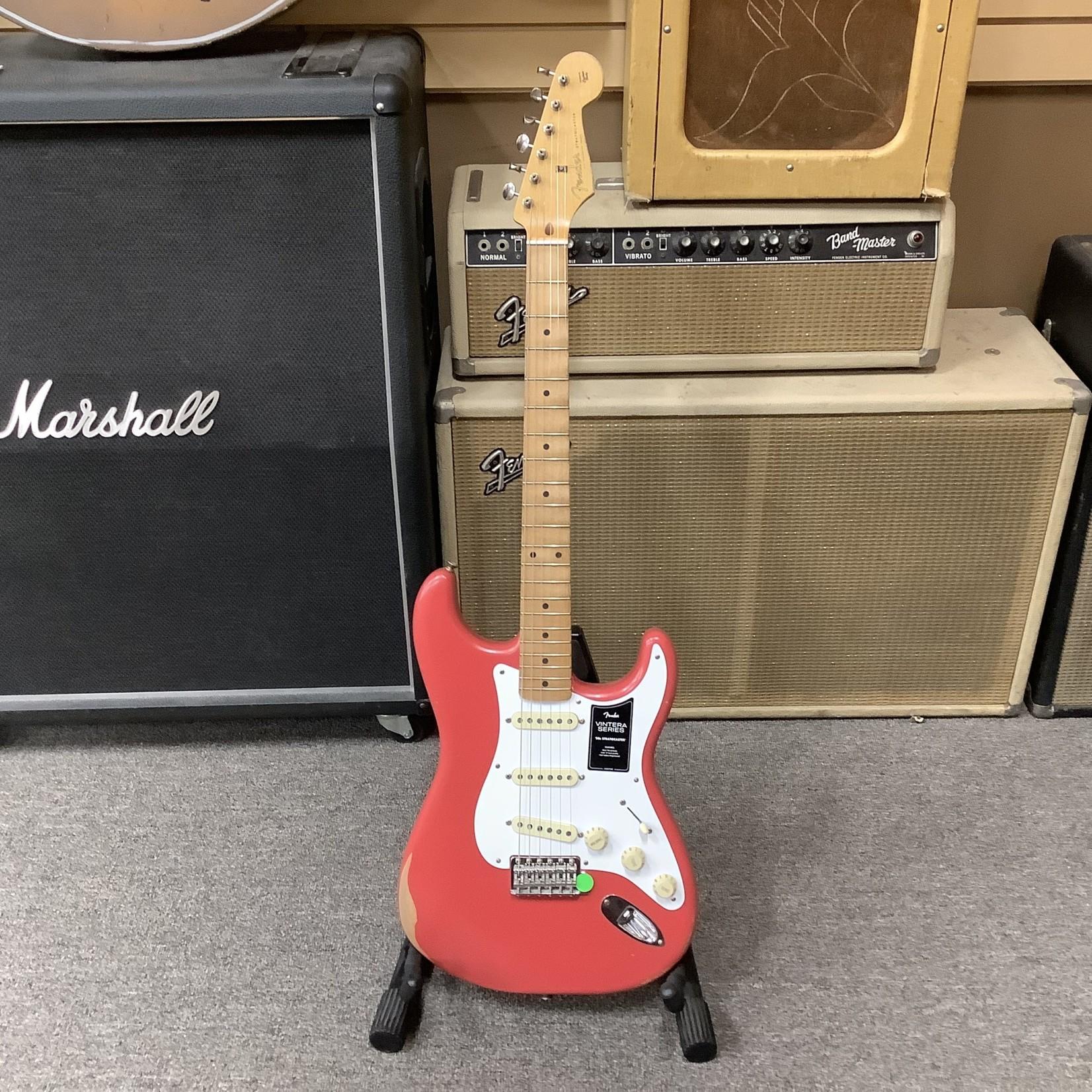 Fender Brand New Fender Vintera 50's Roadworn Stratocaster Fiesta Red Maple Neck