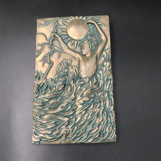 Fire Plaque by Ann Zeleny