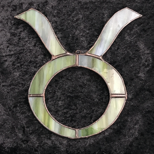 Stained Glass Zodiac Symbol for Taurus
