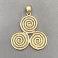 OMEN Solid Bronze Triskelion Pendant