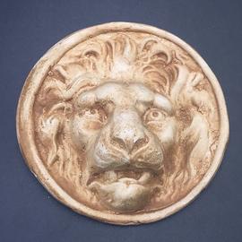 Lion Head Medallion Wall Hanging