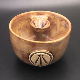 Altar Bowl in Tiger's Eye with Awen Symbol