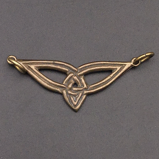 OMEN Small Triquetra Centerpiece Pendant in Bronze