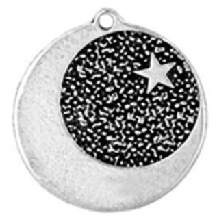 Star-Dogged Moon Talisman Pendant