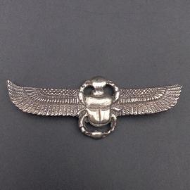 Winged Scarab Choker in Sterling Silver
