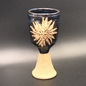 Chalice in Blue with Green Man