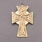 OMEN Celtic Knotwork Cross Pendant in Bronze