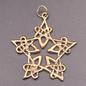 Lacework Pentgram Pendant in Bronze