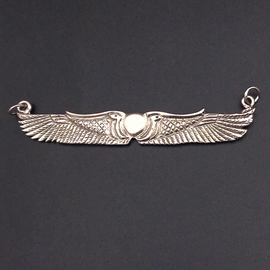 Winged Disk Choker in Sterling Silver