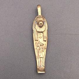 Mummiform Lioness Pendant in Bronze