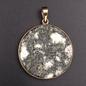 OMEN Round Polished Preseli Bluestone Hengestone Pendant set in Solid Bronze