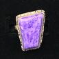 OMEN Sterling Charoite Ring